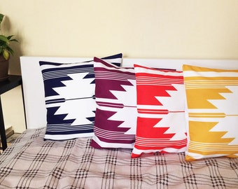 Four wonderful pillow covers in four different colors, Traditional motives, Soffa pillow cover,  Throw pillow cover,