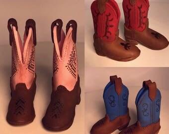 Fondant Sugar Paste Cake Topper - Cowboy Boots