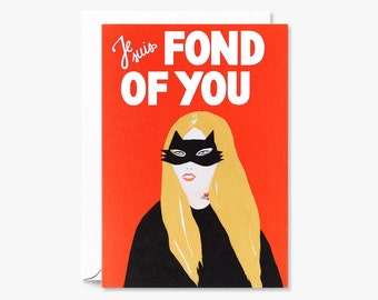Fond of You Illustrated Greeting Card