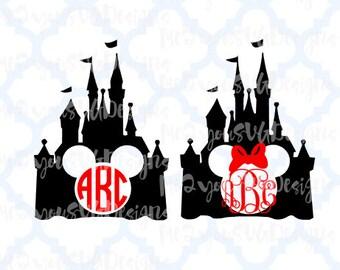 Magic Kingdom Monogram Castles SVG,EPS,PNG,Studio