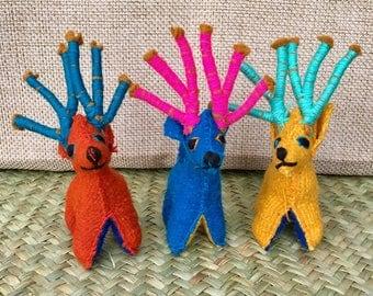 100% wool toys animals handmade Chiapas Mx