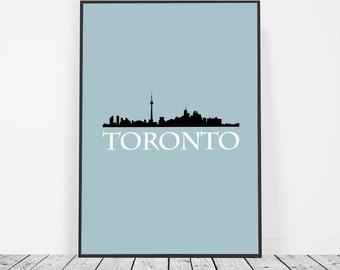 Toronto print Toronto skyline wall art Toronto poster Cn tower Toronto wall decor minimal decor Scandinavian decor Canada wall decor