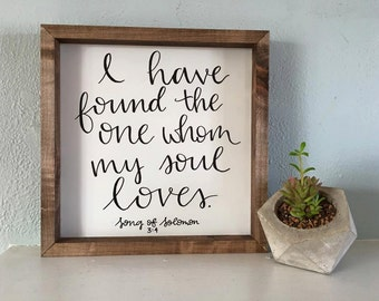 Song of Solomon Wood Sign