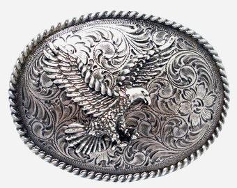 Mens Belt Buckle Eagle Belt Buckle Western 3D Silver Eagle Belt Buckle Patriot Belt Buckle Flying eagle Belt Buckle Western Rodeo Men's Gift