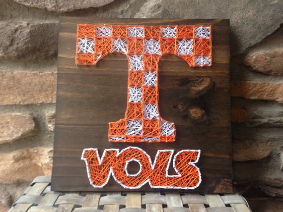 Tennessee VOLS Wood Sign String Art Home Decor Coaches Gift