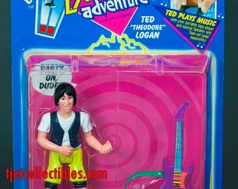 """Bill & Ted's Excellent Adventure Ted """"Theodore"""" Logan Action Figure 1991 Kenner"""
