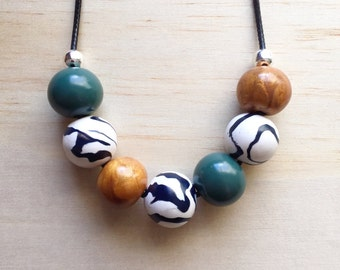 SALE Safari Necklace - gift for her, teacher present, polymer clay, accessories