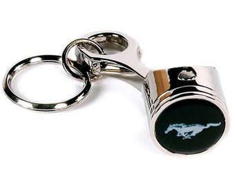 Ford Mustang Keychain & Keyring - Piston