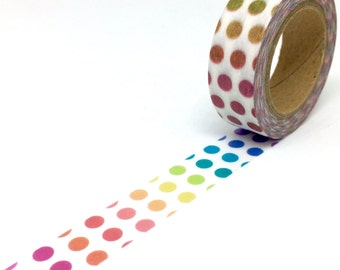 Rainbow Gradient Dots Washi