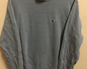 Vintage 90's Champion Classic Design Sweat Shirt Sweater Varsity Jacket Size L #A644