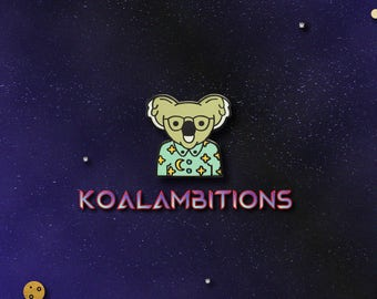 Koala Space Enamel Pin
