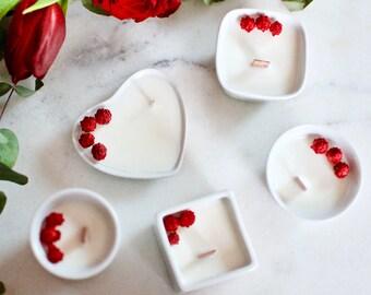 Mini Bougie Fleurie - Mariage - Cadeau invité - Cire de Soja - Vegan - Made in France //Décoration Mariage