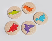 "Pinback Buttons | 58mm | ""Dinosaurs"" 