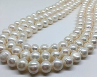 9-10mm Freshwater Pearl, White Pearl, Pearl Beads, Pearl Jewelry