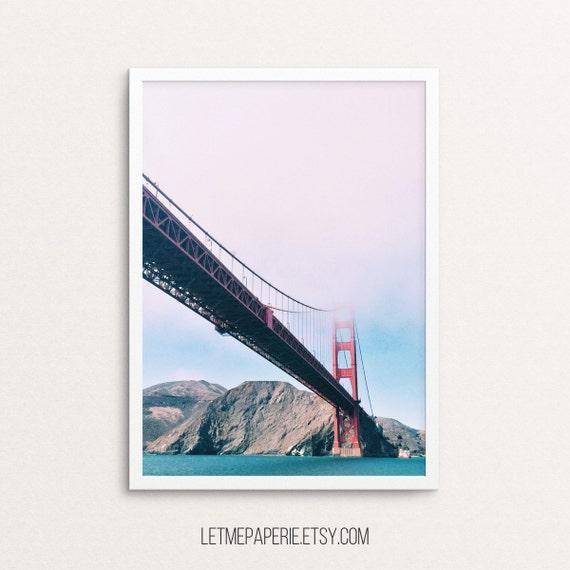 Sea print, Bridge prints, Ocean printable, Sea photography, Landscape, Bridge photo, Mountain wall print, Poster, Printable coastal, digital