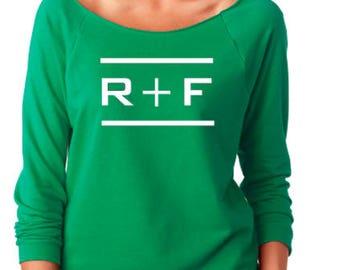 Rodan Fields  Terry Raw-Edge 3/4-Sleeve Raglan - Rodan Fields Shirt