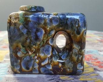 Marei 2001: Vintage 1950s West German Chimney Vase with Textured Snake Skin Decor