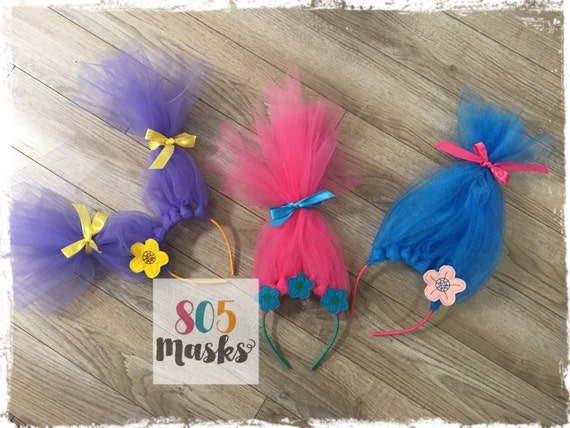 Trolls Tulle Birthday Photo Booth Props