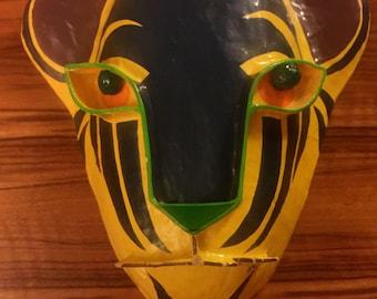 Vintage Paper Mache Animal Mask by artist Gina Truex