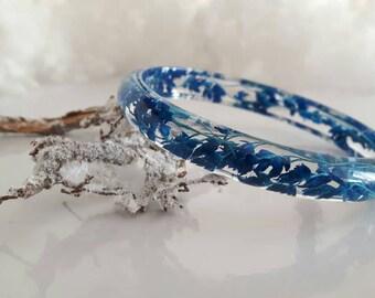 Resin bracelet,  resin real flowers, dried flower bracelet, flower bracelet preserved, bracelet nature