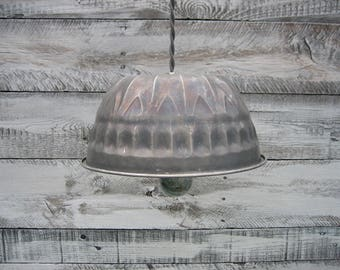 Vintage Bundt  Pan Pendant Light