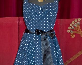 Vintage polka dot dress 50s style Rockabilly