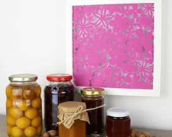 Pink flowers - Handmade Papercut