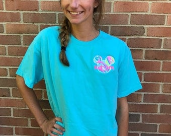 Girls Minnie Mouse Swirl Monogram Shirt, Disney Monogrammed Shirt, Vinyl  Shirt, Disney Cruise