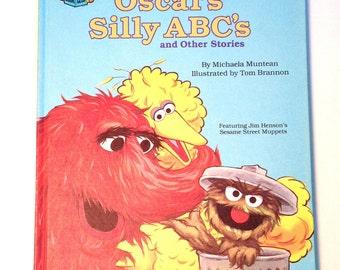 Vintage Sesame Street Oscar's Silly ABC'S, 1987 Edition,vintage sesame street books, vintage childrens books, classic sesame street oscar