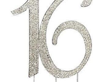 Sweet 16 cake topper Etsy