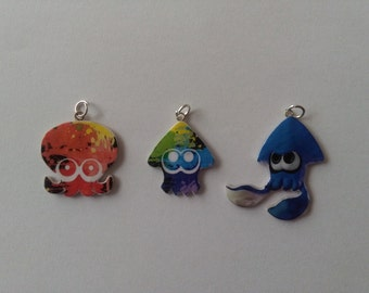 Splatoon - Silver Necklace - Tattoo Necklace - Keychains - Brooch - mobile Strap - Choker - Lanyard - Splatoon Charm