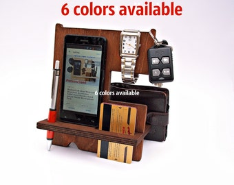 Gifts for Men Fathers Day Gifts Birthday Gift Dad Gifts Present for Him Husband Gift Personalized Mens Gift Ideas Wood Docking Station