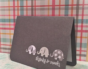 Elephant thank you cards/ set of 4