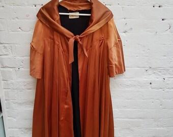 1950s William Rothery bronze evening coat. UK size 12/14