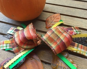 Stacked Autumn Thanksgiving Bow