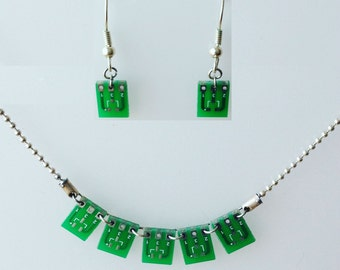 PCB set (earrings + necklace)