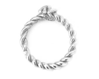 Silver Twisted Knot Ring