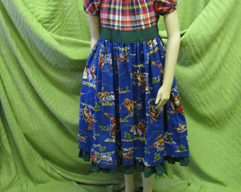 Cotton Peasant Girl Dress