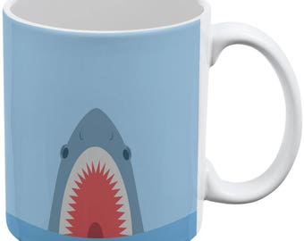 Cute Fun Shark Attack All Over Coffee Mug