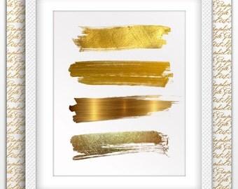 Brush Print, Black Brush Stroke, Gold Brush Stroke art, Brush Stroke Prints, Black and Gold Brush, Brush Stroke poster, Brush Stroke decor