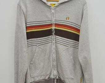 HANG TEN Hoodies Hang Ten Multicolor Stripes Zipper Sweater Sweatshirt Hoodies Size L