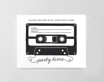 Printable Song Request Cards for RSVP