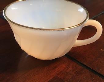 Fire king milk glass coffee mug