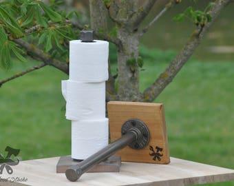 Door-rolls, toilet paper, towel-hand, industrial, plumbing, vintage, old valve, cast iron, steel, decoration, Ironwoodstache