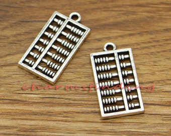 30pcs Abacus Charms Counting Charm Antique Silver Tone 26x13mm cf0476