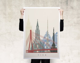 Riga Travel Poster