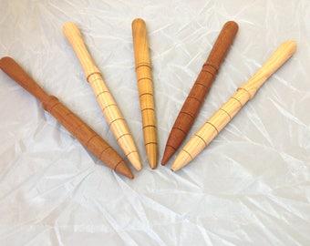 Wooden garden dibbers