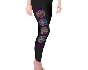 Floral Gypsy Bohemian Women's Leggings