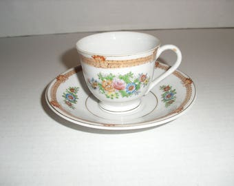 Occupied Japan Cup and Saucer.  Miniature.