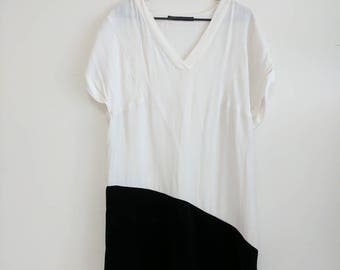 Long Black and White Zara Dress